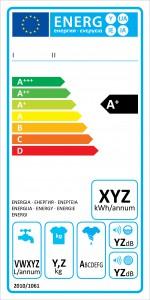Energielabel laut EU-Verordnung